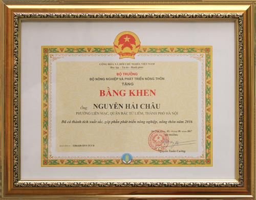 Được Bộ Nông nghiệp và Phát triển Nông thôn trao tặng bằng khen