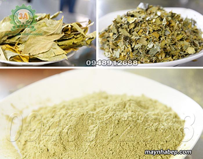 Bột trà được nghiền mịn bằng Máy nghiền bột trà xanh 3A2,2Kw