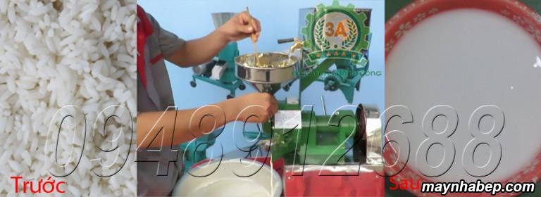 Gạo được nghiền thành bột nước với Máy xay bột nước 3A370W