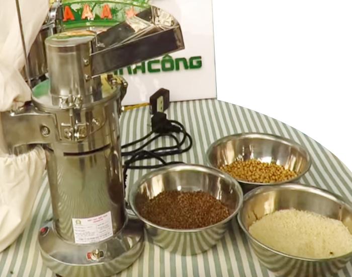 Máy xay bột mịn 608TM xay được đa dạng các loại hạt ngũ cốc thành bột siêu mịn