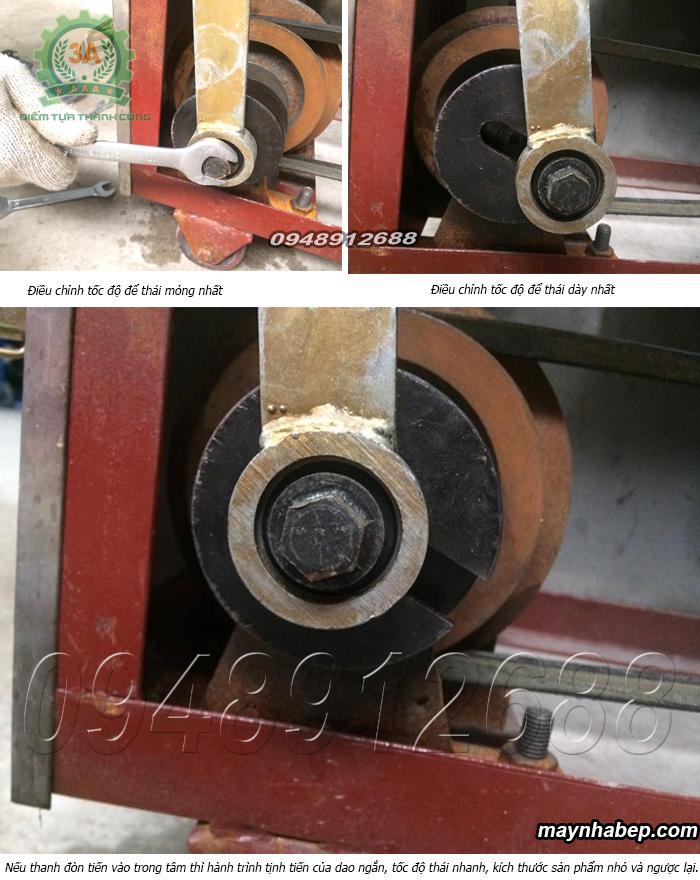 Điều chỉnh tốc độ dao thái máy cắt rau củ quả có băng tải 3a2,2KW