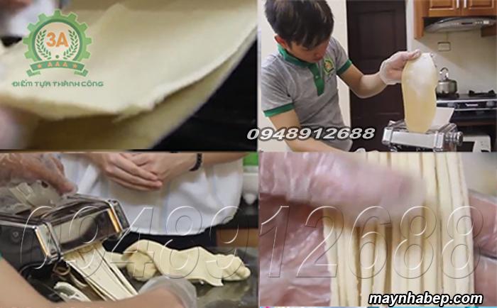 Mì tươi được làm dễ dàng bằng Máy làm mì chạy điện
