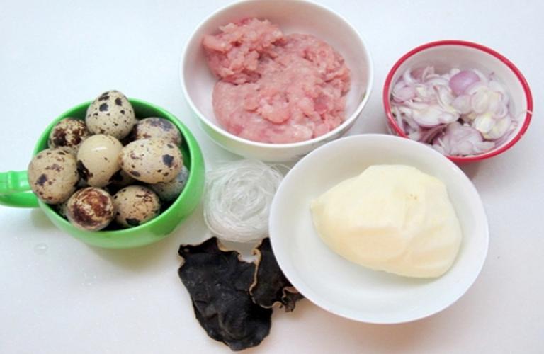 Nguyên liệu sử dụng làm bánh gối