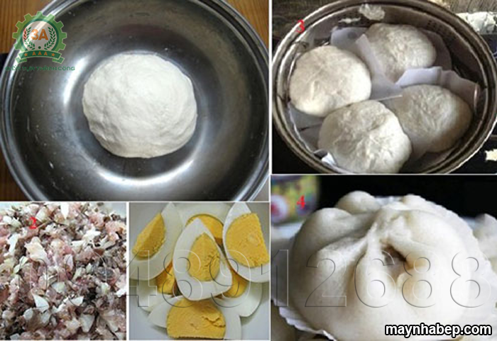 Bí quyết làm bánh bao nhân thịt với trứng