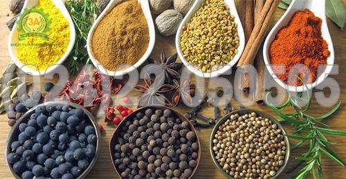 Một số loại nguyên liệu được dùng làm gia vị