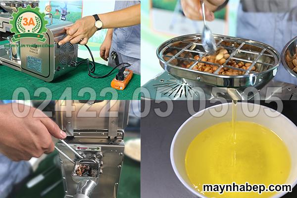 nguyên lý máy ép dầu thực vật